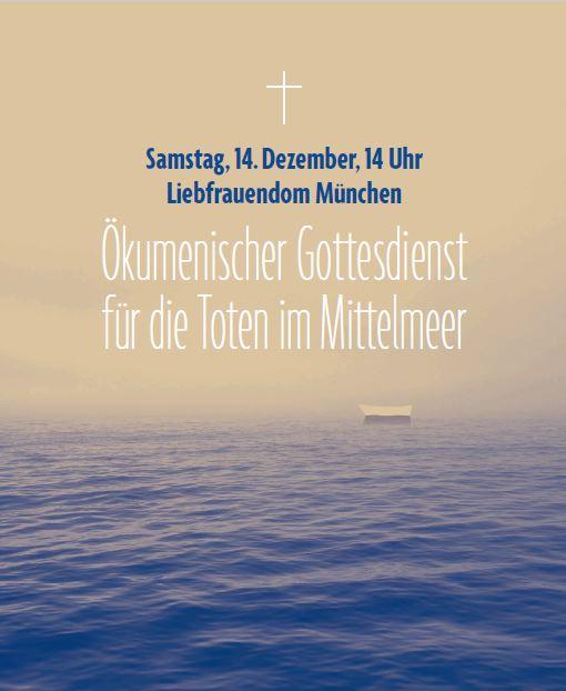 Ökumenischer Gottesdienst für die Toten im Mittelmeer